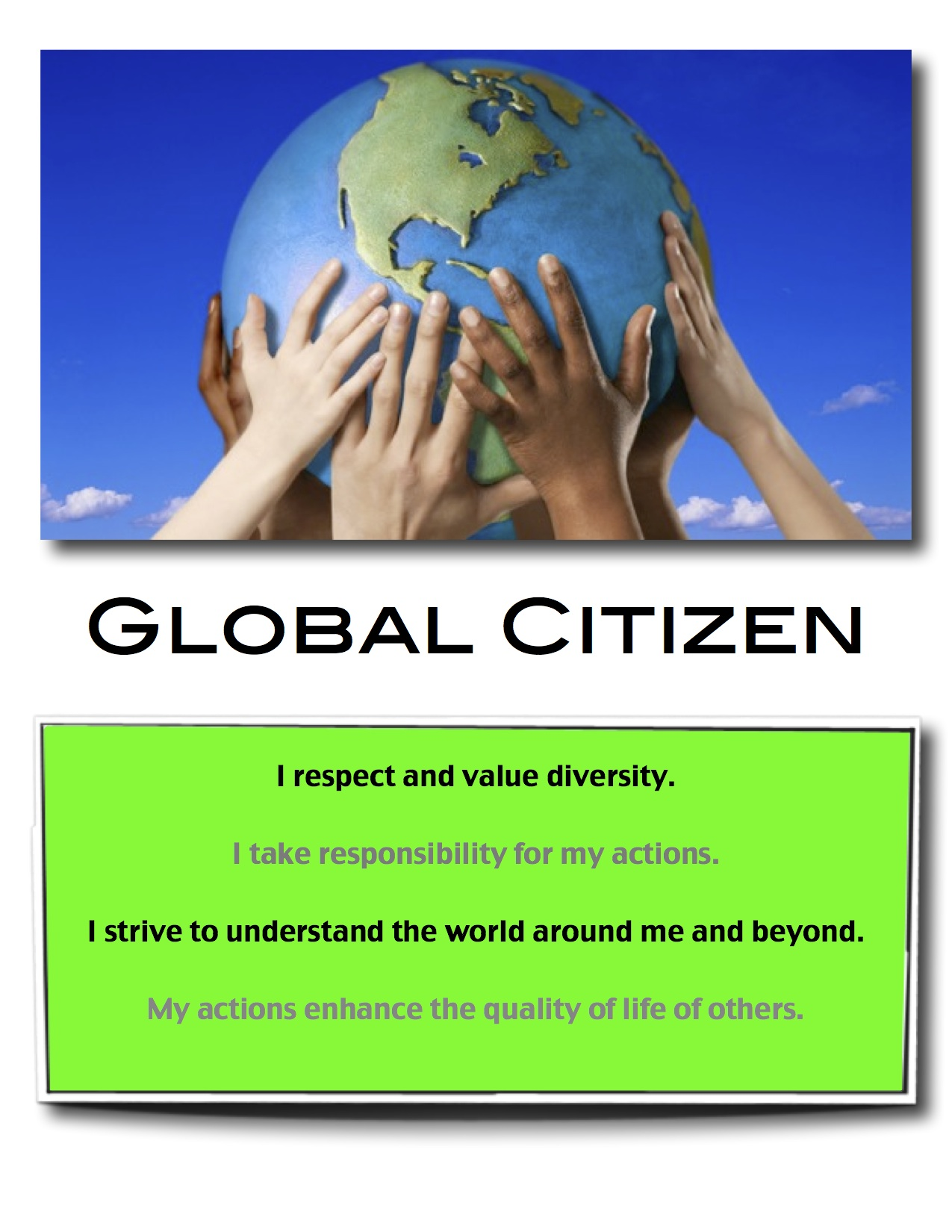 an understanding of the essence of being a global citizen Training future members of the world with an understanding of global into close consideration the essence of global global citizen as.