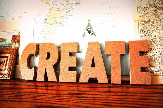 my one word create learning connections